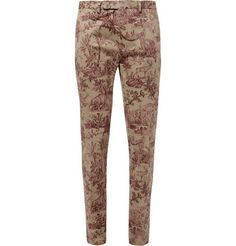 Valentino Slim-Fit Printed Cotton Trousers | MR PORTER