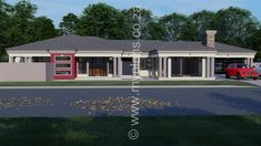4 Bedroom House Plan - My Building Plans South Africa My House Plans, 4 Bedroom House Plans, Modern House Plans, Cottage House Plans, Craftsman House Plans, My Building, Building Plans, Beautiful House Plans, Beautiful Homes