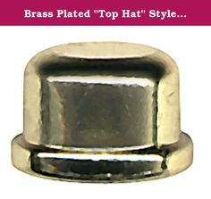 """Brass Plated """"Top Hat"""" Style Finial For Lamp Shades (Lot/10). These popular brass plated finials are the perfect finishing touch for your lamp making or repair project. They will complement almost any lamp shade. Please note that they are tapped 1/4-27 and should screw onto the top of any standard lamp harp. The overall outside diameter at the base is approx. 3/4"""" and the overall height is 1/2"""". This offer is for 10 brand new brass finials. Be sure to visit our Amazon Storefront to see…"""