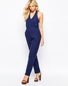 1a356167686 Fashion Union Halterneck Jumpsuit Halfteroverall