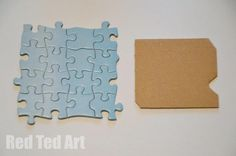 Puzzle Coaster Craft - Pinned by @PediaStaff – Please Visit  ht.ly/63sNt for all our pediatric therapy pins