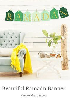 Never see such a sophisticated Ramadan decor before. The Ramadan banner is stylish, modern and beautiful to decode my home.