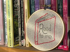Read to Me Hoop Art by LaughRabbitJr on Etsy, $15.00