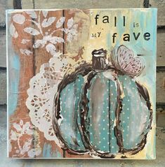 Learn to paint this mixed media canvas!