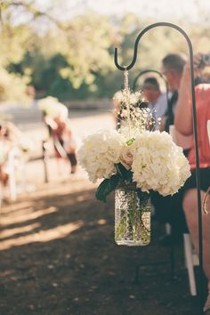 Wedding ceremony Aisle flowers