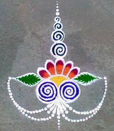 Rangoli Designs Diwali, Rangoli Designs Images, Kolam Rangoli, Indian Rangoli, Simple Rangoli, Future, Future Tense