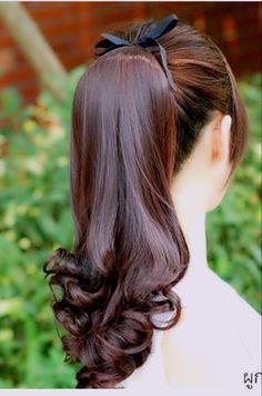 Art Of Beauty, Hair Beauty, Braided Ponytail, Hair Ponytail, Hair Buns, Bun Hairstyles For Long Hair, Pigtail Braids, Natural Hair Styles, Long Hair Styles