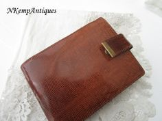 Vintage leather purse by Nkempantiques on Etsy