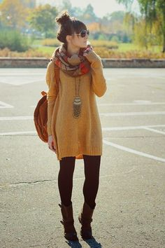 How to Style Your Sweater Dress this Winter