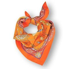 Summer Colors, Neon Colors, French Silk, Orange You Glad, Silk Road, Happy Colors, Elegant Outfit, Silk Scarves, Scarf Styles