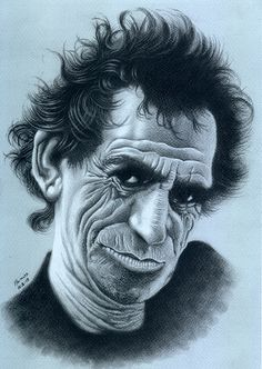 Portrait - Keith Richards  by Marcos Jorge Rodrigues
