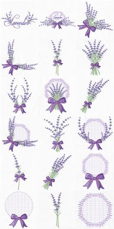 Lavender Delights (Sizes: 4x4 and 5x7) | Embroidery Delight | Your source for all embroidery designs, Applique, Quilt Blocks, Animal, Floral...