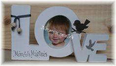 "Lettres en bois ""Love"" porte-photos"