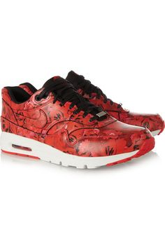 21d2a16c30 Nike - Air Max 1 Ultra Shanghai floral-print leather sneakers