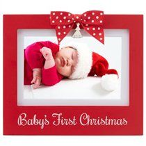 babys first christmas picture frame snowflakes background free personalization 8x10 deluxe frame included other designs available christmas