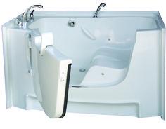 wheelchair accessible bathtub :) next purchase Ada Bathroom, Handicap Bathroom, Steam Showers Bathroom, Bathroom Layout, Small Bathroom, Master Bathrooms, Master Bedroom, Walk In Tubs, Walk In Bathtub