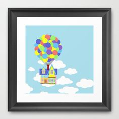 Disney and Pixar's Up Over Sky and Clouds Art Print