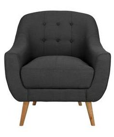 Buy Hygena Lexie Retro Fabric Chair - Grey at Argos.co.uk - Your Online Shop for Armchairs and chairs.