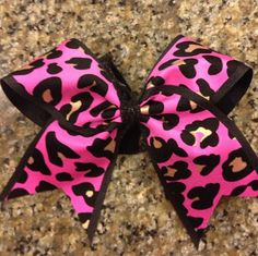 I like differ kinds of cheering bows because I cheer myself