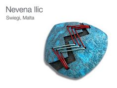 Polymer clay brooch by Nevena Ilic (aka Nevenue).