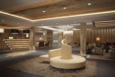 Lobby - Hotel de Rougemont -By Plusdesign, architects Claudia Sigismondi & Andrea Proto Hotel Lobby, Architecture, Design, Arquitetura, Architecture Design, Design Comics, Architects