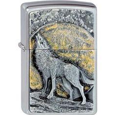 ZAPALOVAČE ZIPPO - Zapalovač ZIPPO 21803 Wolf at Moonlight Emblem