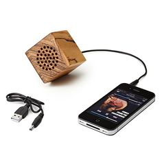 Your own music in the park w/Japura Zebra Wood USB Portable Speaker Ipod Speakers, Mobile Speaker, Wooden Speakers, Cool Tech Gifts, Creative Gifts, Unique Gifts, Stocking Stuffers For Kids, Little Presents, Xmas Presents