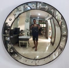 Antique Convex Mirror Analyse MG 050012 Convex Mirror, Wall Mirror, Different Types Of Colours, Surakarta, Mirrored Furniture, Venetian Mirrors, Round Mirrors, Central Asia, Antiques
