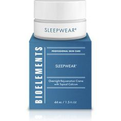 "Experience visibly smoother, firmer skin in just one night with this much-coveted overnight creme. Sleepwear contains a never before-used scientific complex of topical calcium, time-released retinol, cranberry seed oil and protein peptides. This rejuvenating ""dream team"" works all night long to rebuild firming collagen and elastin, replenish antioxidants, improve moisture retention and strengthen the skin's protective barrier layer."