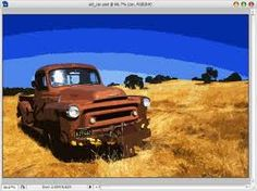 photoshop filters Pallet Painting, Pallet Art, Photoshop Filters, Rusty Cars, Monster Trucks, Vehicles, Image, Abandoned, Rolling Stock