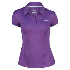 Women`s Pintuck Short Sleeve Tennis Polo Ultraviolet