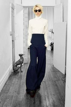 Assembly A/W 2013 NYFW - if Karl Lagerfeld was a woman I think he'd wear this.