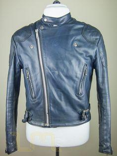 Vintage Lewis Leathers Aviakit Monza Cafe Racer Biker Jacket image two
