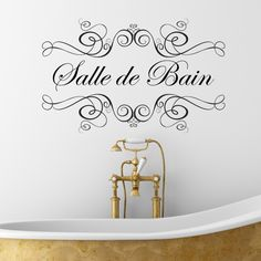 boudoir or salle de bain wall sticker room accessories