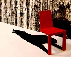 Cantilevered Chair Casts An Unusual Shadow