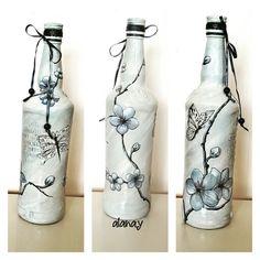 40 En Iyi şişe Boyama Ve Süsleme Görüntüsü Decorated Bottles