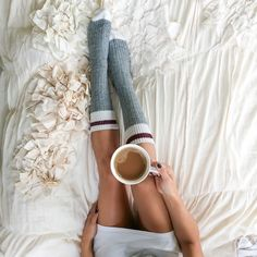 Coffee in Bed. Anthropologie bed. #liketkit
