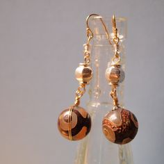 Brown Stone Earrings  (clear moon 2012 winter)