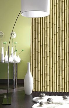 J22317 -  WASHABLE FEATURE WALLPAPER BAMBOO EFFECT