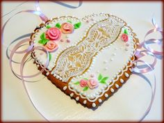 "Lace vanilla cookie ""Heart"""