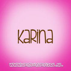 Karina (Voor meer inspiratie, en unieke geboortekaartjes kijk op www.heyboyheygirl.nl)