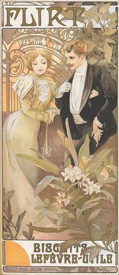 Flirt Biscuits by Alphonse Mucha