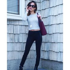 """""""Outfit of the day today ! Top @forever21 handbag @calvinklein"""" Photo taken by @paulina_allure on Instagram, pinned via the InstaPin iOS App! http://www.instapinapp.com (09/27/2015)"""