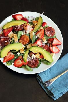 Spinach Salad with Chicken and Strawberries - read the note about omitting the feta for the Whole 30. This is an amazing salad. You won't even know you're doing a Whole 30.