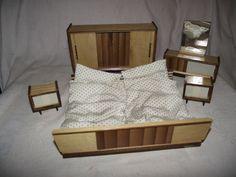 50er Jahre Puppenstube Schlafzimmer Puppenstubenmöbel