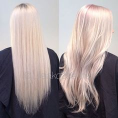 White with a touch Of lavender, pink and silver  Regrowth (natural 6 and 7) with Wella Blondor  6% for 15-20 minutes in minimum heat. #wellainstamatic #instamatics 50g muted mauve + 15g pink dream + 10 g clear + 1,9% + 1/8 olaplex for 10 minutes all over. Noticed something funny today, she came to me with wet, freshly shampooed hair. (Wich I never recommend btw) And today processing time was only 15-20 min (usually at least 30 minutes) and the Instamatics overpigmented a bit in the root ...