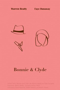 Bonnie and Clyde Movie Poster by Whitney Jenich, via Behance