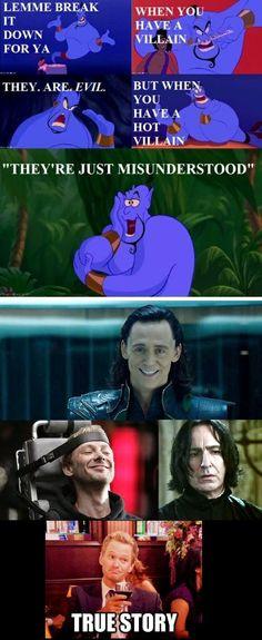 Hot villains are just misunderstood....