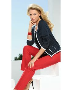 #Barbara  #Lebek Zipped Cardigan 5610 805 89 Barbara Lebek Zipped Cardigan from the Dolce Vita range.  Co-ordinates well with BARBARA LEBEK TOP 5621 1237 89