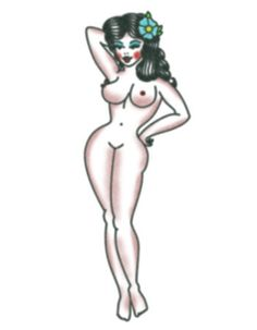 Pin-up girl temporary tattoo http://www.tattooednow.com/collections/pinup-girl-tattoos/products/sexy-pin-up-girl
